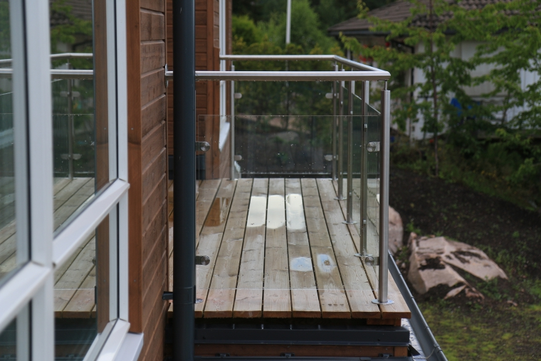Glass railings in Norway
