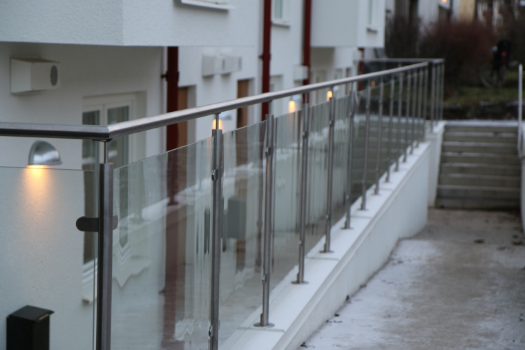 Glass railings in Stockholm